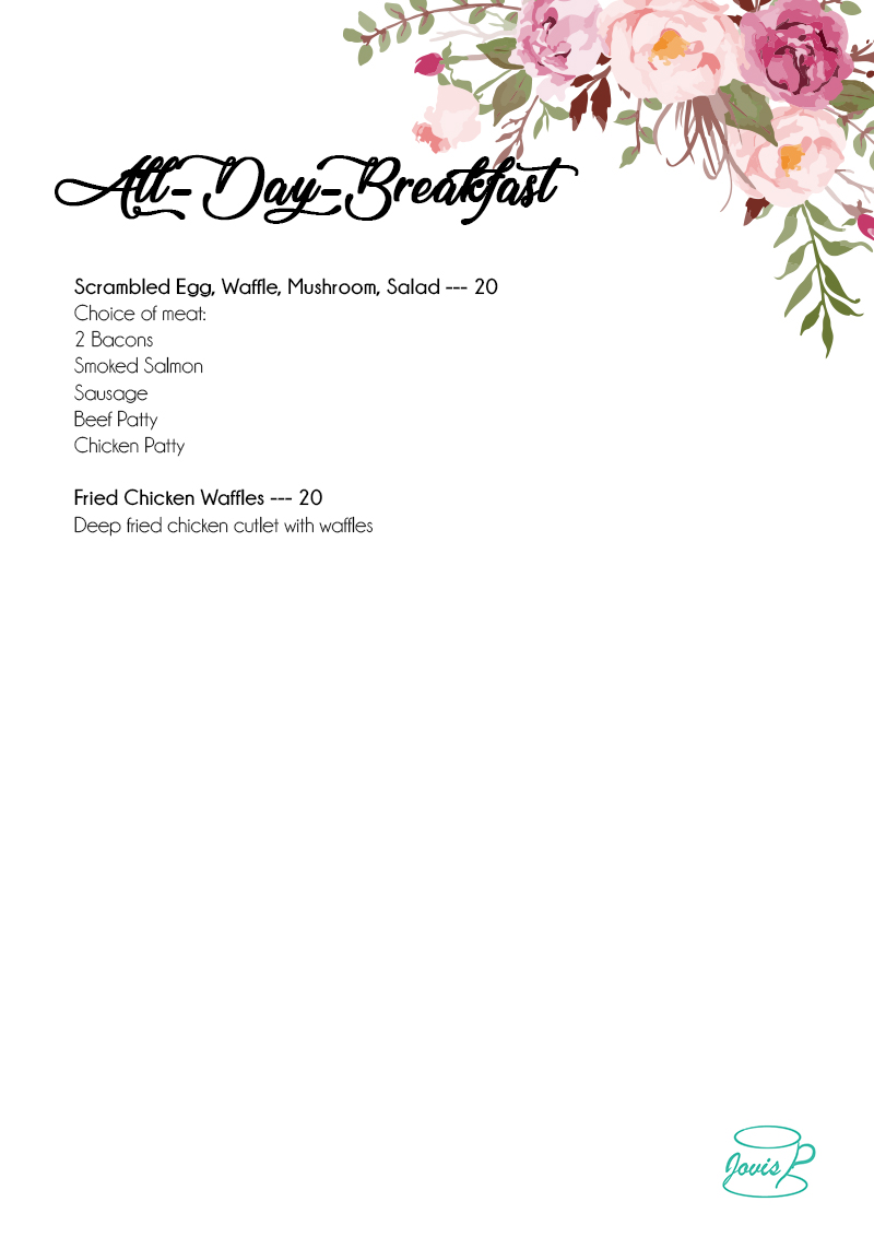 Jovis Food Delivery Menu - All-day-breakfast